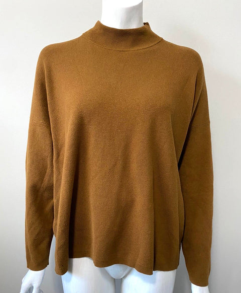 H&M Copper Mock Neck Sweater Size L