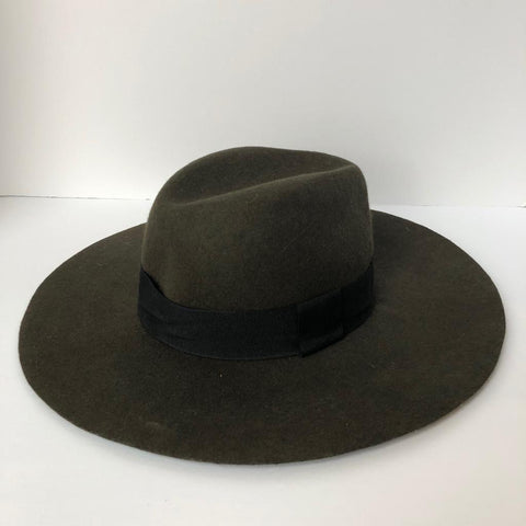 Club Monaco Forest Green Wool Felt Hat O/S