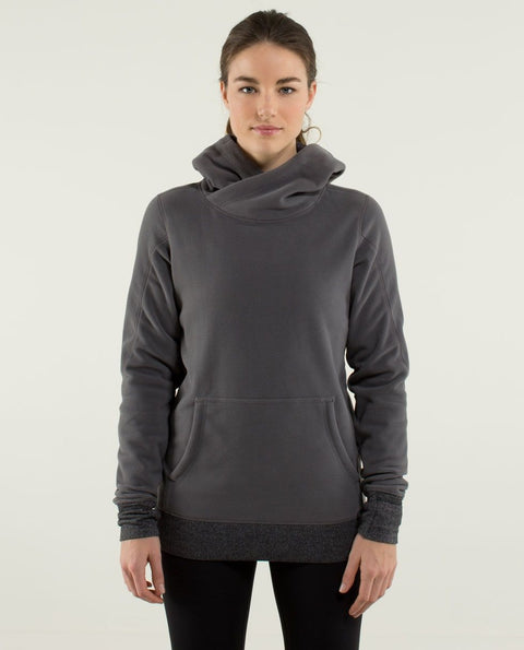 Lululemon Grey Fleece Hoodie Sweater Size 6