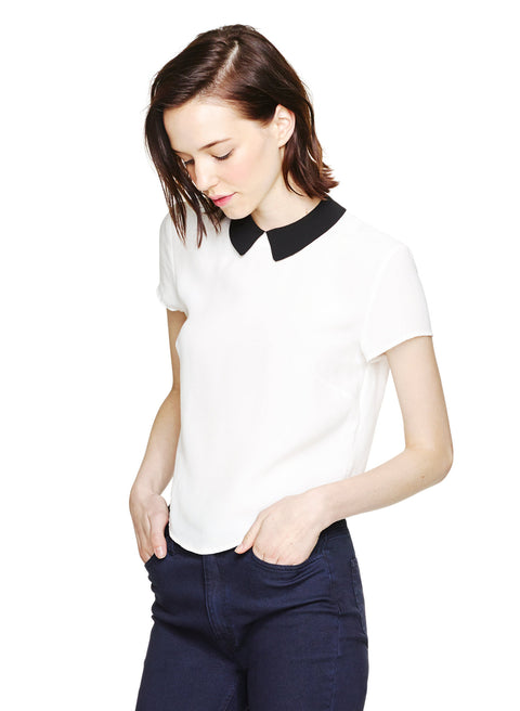 Aritzia Sunday's Best Peter Pan White Blouse - Joyce's Closet  - 1