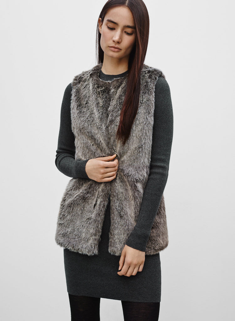 Talula Grey Romilly Open Vest Size XXS