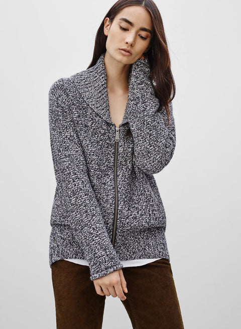"TNA ""Telluride Grey Zip-Up Sweater - Joyce's Closet  - 1"