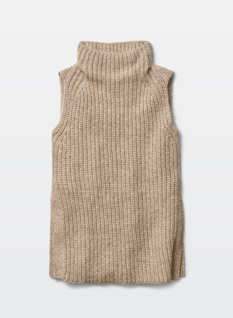 Wilfred Durandal Oatmeal Sleeveless Knit Sweater Size M