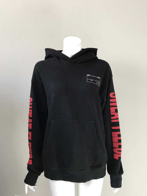 TNA Black Graphic Hoodie Sweater Size M