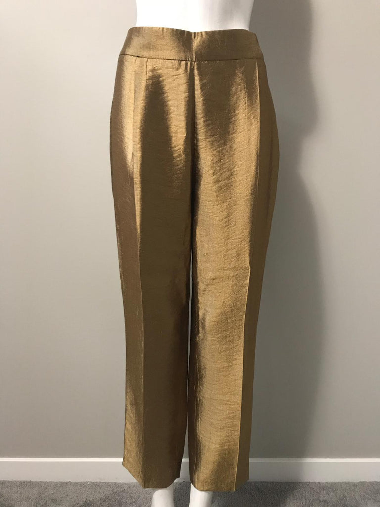 Zara Gold High Waisted Trouser Size L