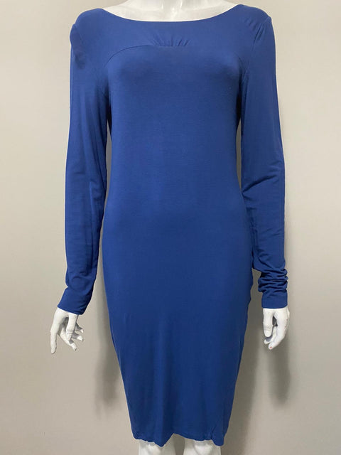 Eco Skin Blue Open Back Dress Size L