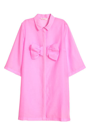 Brand New H&M Pink Bow Detail Dress Size 8