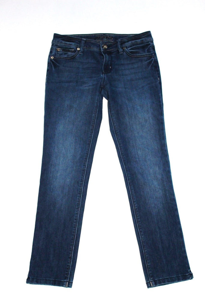Zara Basic Z1975 Denim Blue Boot Cut Jeans - Joyce's Closet  - 1