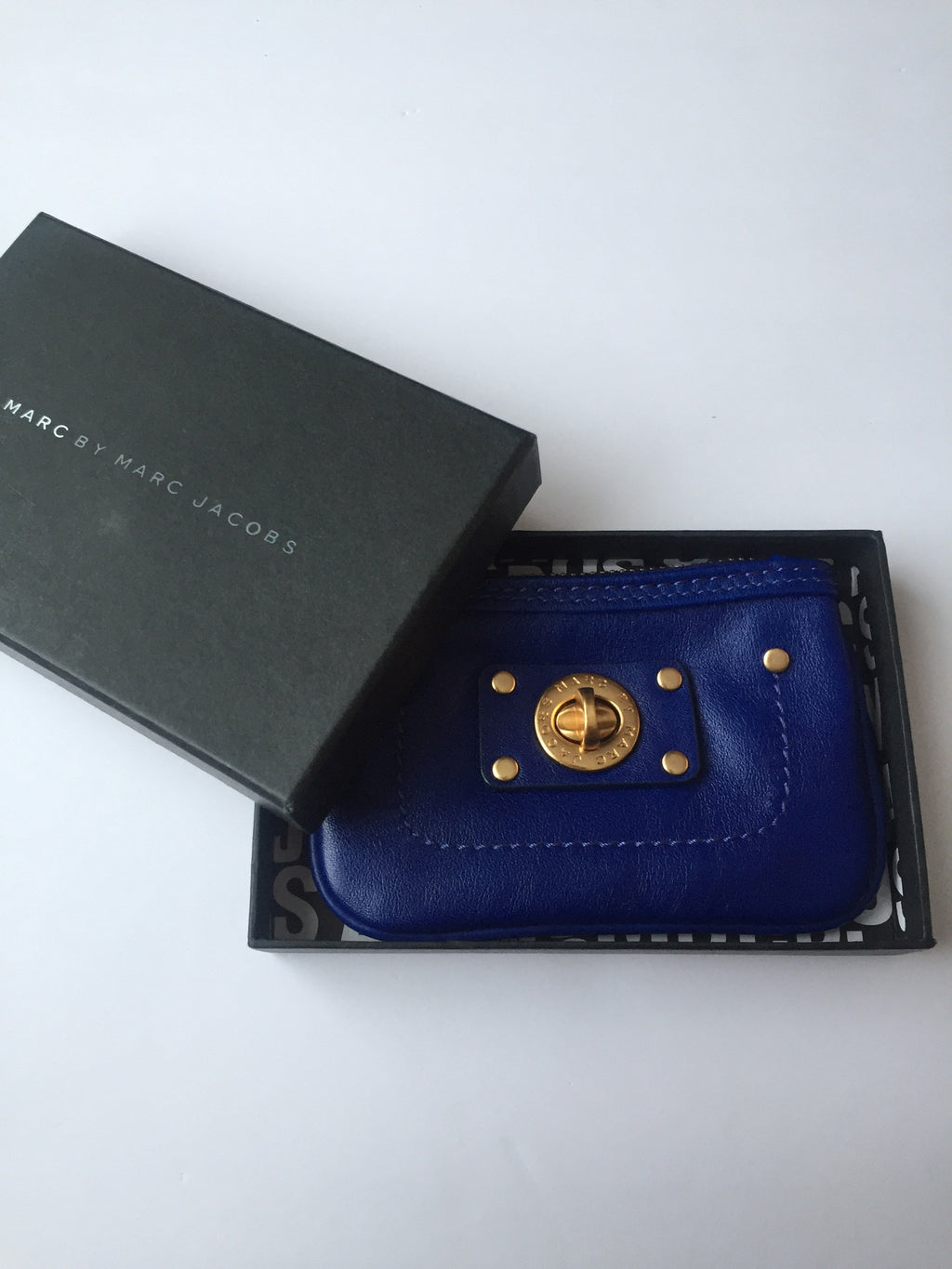 Brand New Marc By Marc Jacob Cobalt Blue Coin Purse