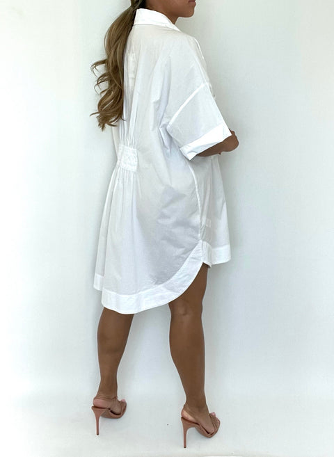 Brand New Zara White Oversized Tunic Dress Size L