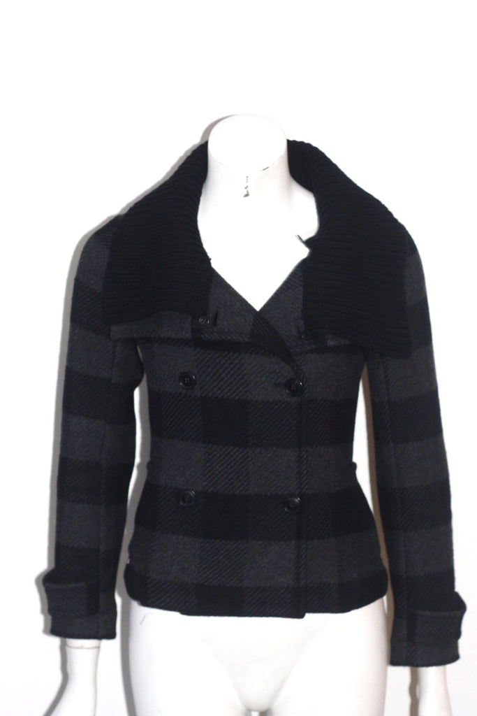 Theory Black Plaid Button Up Jacket - Joyce's Closet  - 1