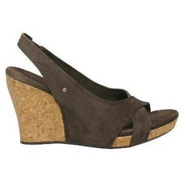 Brand New Ugg Australia Chocolate Brown Wedge Sandals - Joyce's Closet  - 1