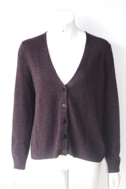 Marc by Marc Jacob Brown Button Up Cardigan - Joyce's Closet  - 1