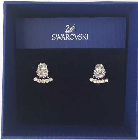 Brand New Swarovski Calista Multi Color Crystal Pierced Jacket Earring 5123871