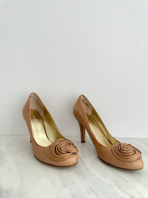 Nine West Tan Round Toe Pump Size 8M