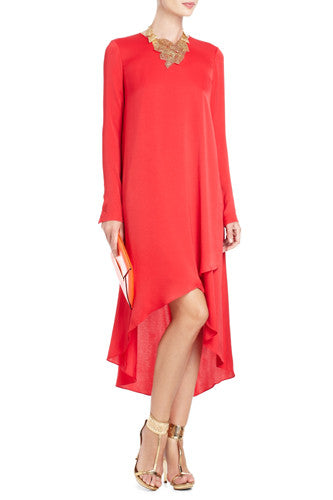 BCBG Max Azria Yolanda Red Hi-Lo Dress Size M