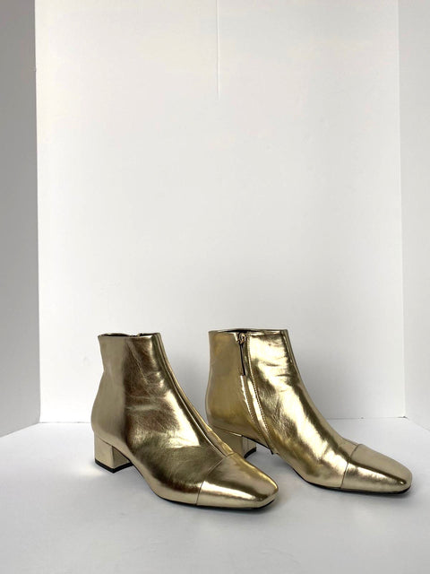 Mango Gold Ankle Boots Size 39