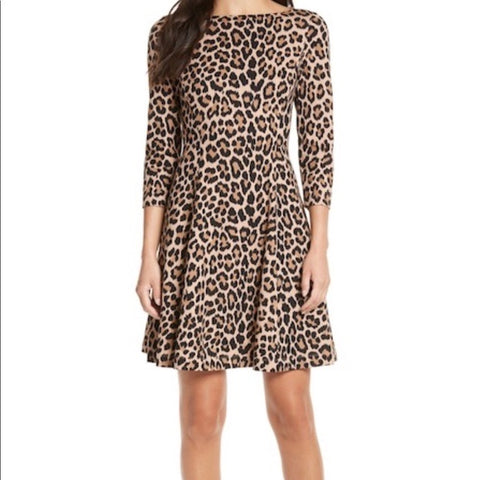Kate Spade Leopard Print Dress Size 6
