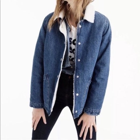 J.Crew Denim Sherling Jacket Size S