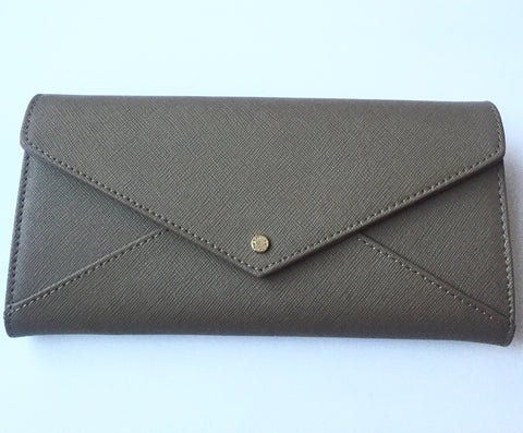 Brand New Danier Coated Grey Leather Wallet