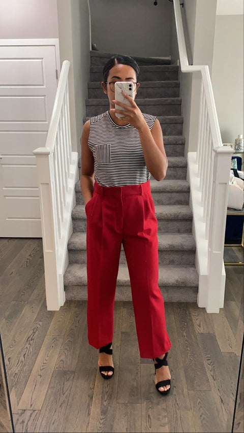 Brand New Zara Red Trouser Size M