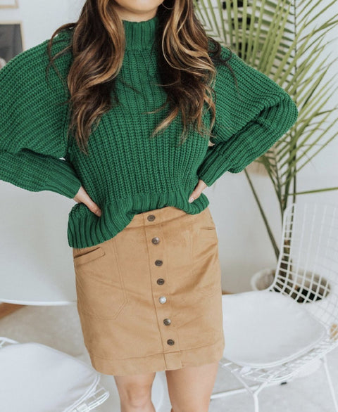 H&M Chunky Green Knit Sweater Size S