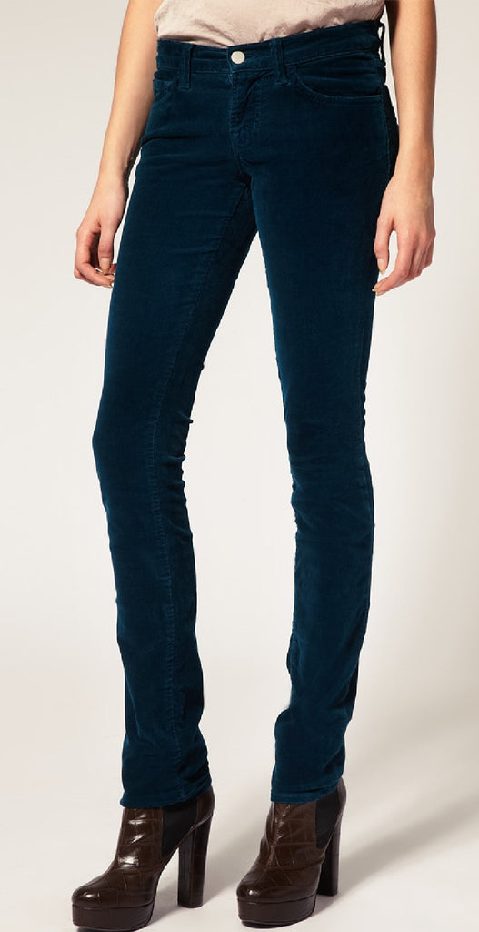 J Brand Mid Rise Skinny Ankle Cord Jeans in Riviera Blue - Joyce's Closet  - 1