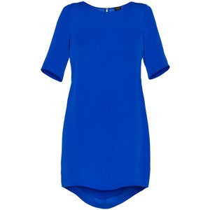 Aritzia T Babaton Cobalt Blue Mason Silk Shift Dress - Joyce's Closet  - 1