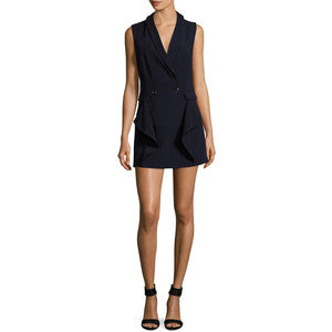 Venus Navy Sleeveless Blazer Dress Size 2