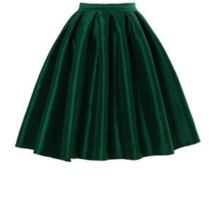 Honey Mi Honey Emerald Green Metallic Midi Bubble Skirt Size 4