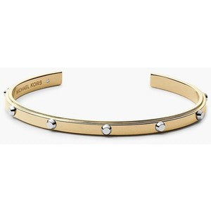 Brand New Michael Kors Adjustable Studded Two Tone Bracelet - Joyce's Closet  - 1