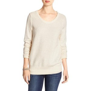 Banana Republic Cream Light Knit Sweater Size XS
