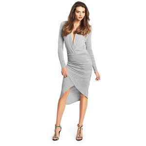 Guess By Marciano Hayley Grey Draped Dress Size XS
