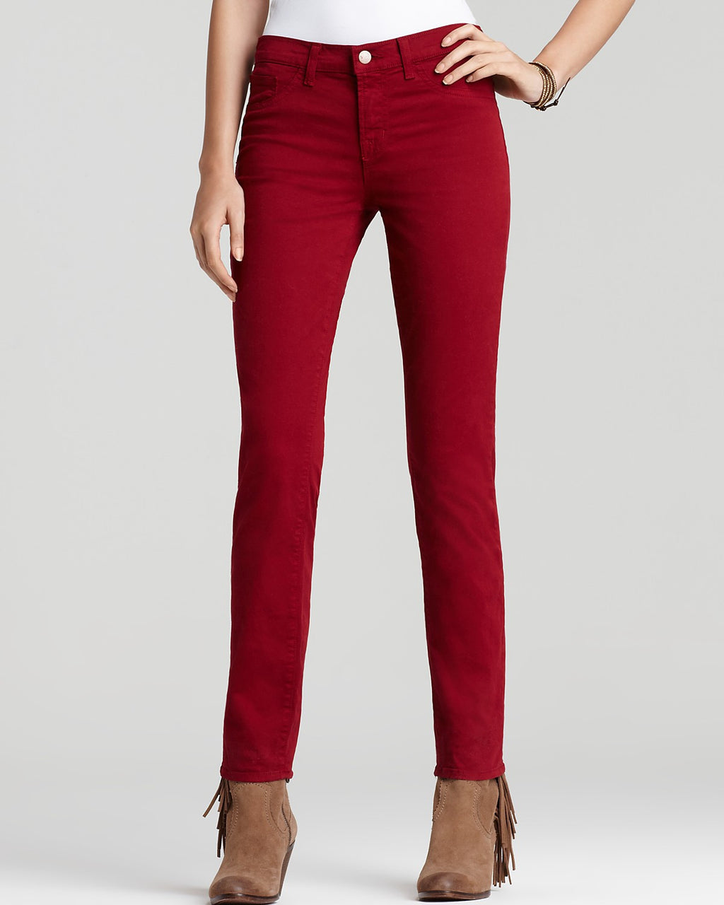 J Brand Black Cherry Skinny Leg Five Pocket Jeans - Joyce's Closet  - 1