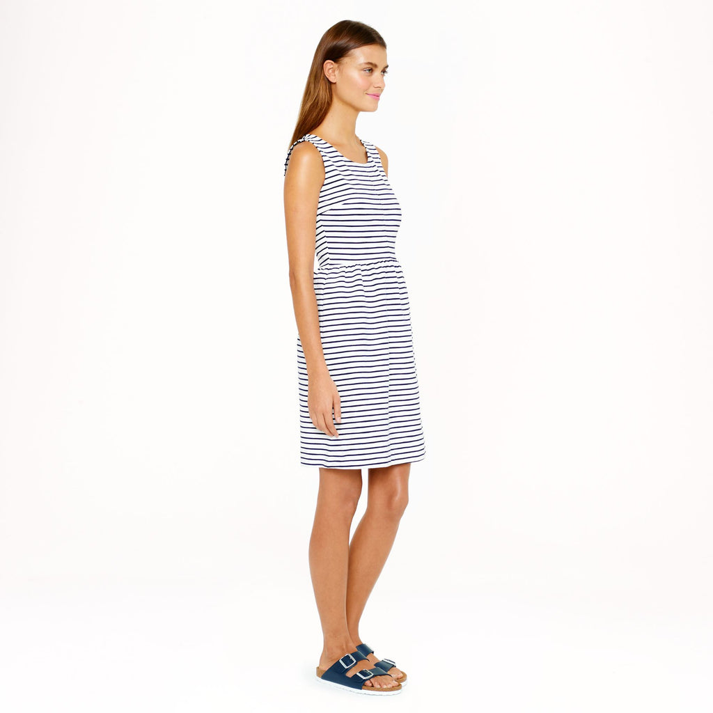 J.Crew Navy & White Stripe Dress Size 6