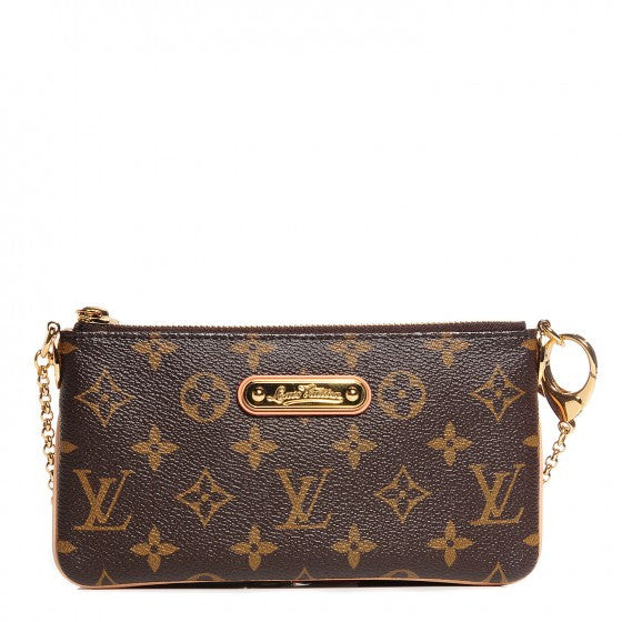 Louis Vuitton Monogram Canvas Milla Pochette MM Clutch