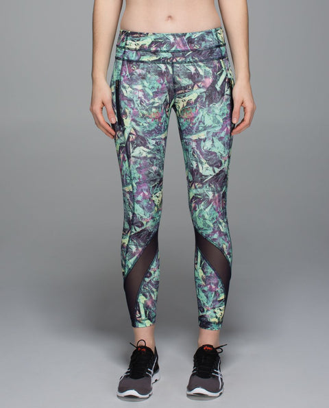 Lululemon Inspire Tight II *Full-On Luxtreme (Mesh) Iridescent Multi Colored Running Pants Size 6