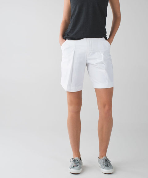 Lululemon White Long Story Casual Shorts Size 10