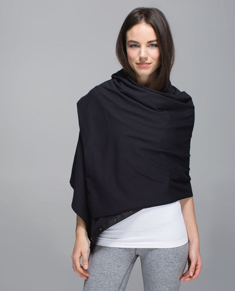 Lululemon Black Vinyasa Many Ways Scarf