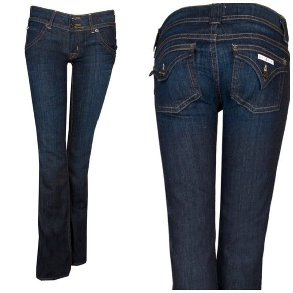 Hudson Dark Wash Signature Blue Jeans Size 30