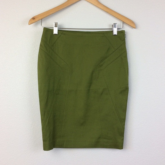 Marciano Olive Green High Waist Pencil Skirt Size 8