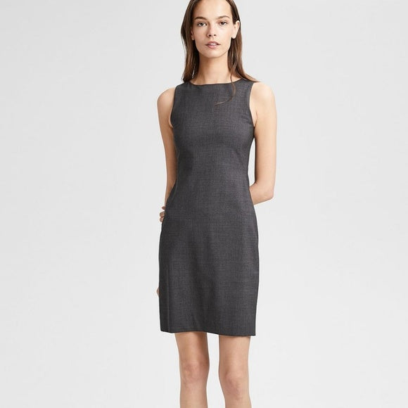 Theory Charcoal Grey Sheath Dress Size 0