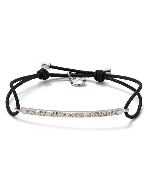 Marc by Marc Jacob Letter Press Black Rope Friendship Bracelet - Joyce's Closet  - 1