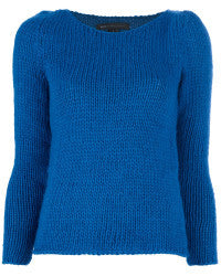 Brand New Marc By Marc Jacobs Harriet Blue Knitted Sweater - Joyce's Closet  - 1