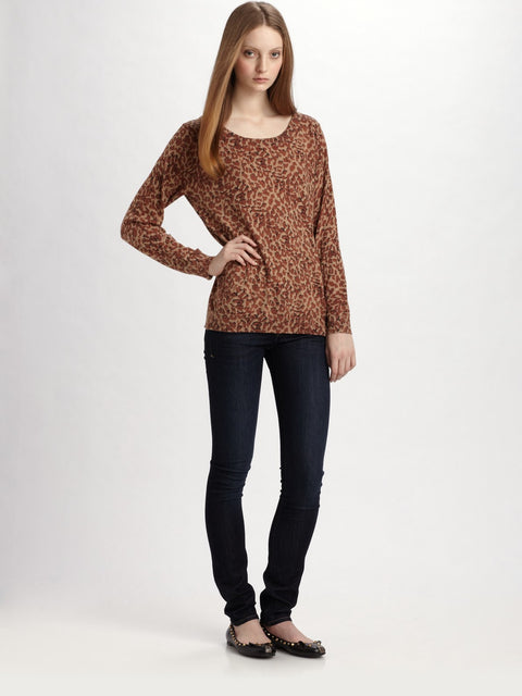 Marc By Marc Jacob Brown Animal Print Pull Over Sweater - Joyce's Closet  - 1