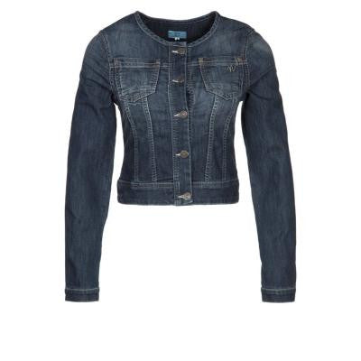 Brand New Noa Noa Crop Blue Denim Collarless Jacket - Joyce's Closet  - 1