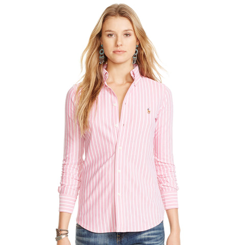 Polo Ralph Lauren Pink & White Stripe Button Up Shirt Size 10