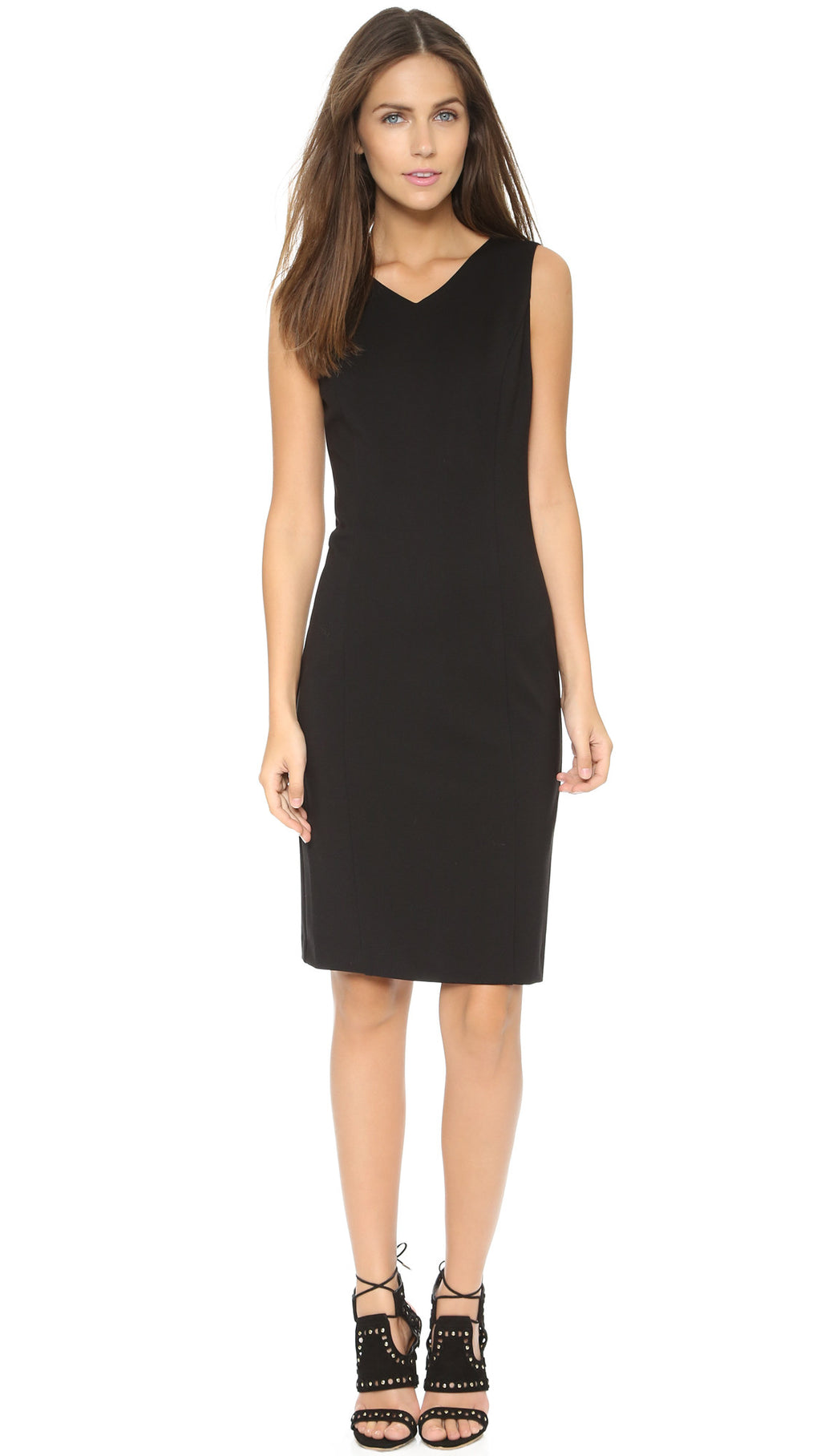 Brand New Zara Black Basic Sheath Dress - Joyce's Closet  - 1