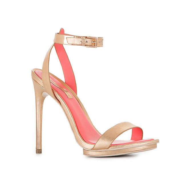 "BCBG Max Azria ""Finite"" Rose Gold Strappy Sandals - Joyce's Closet  - 1"