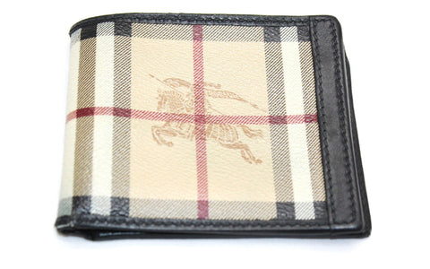 Burberry Brit Haymarket Horseferry Check Print Bifold Wallet - Joyce's Closet  - 1